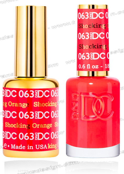DND DC Duo Gel Polish – Valentine Red