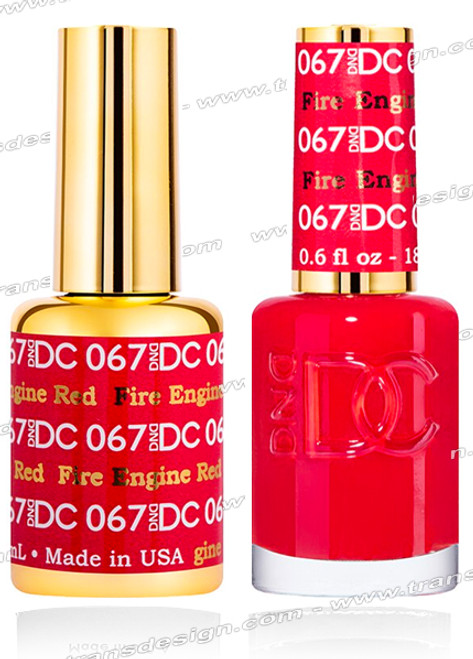 DND DC Duo Gel Polish – Fire Engine Red