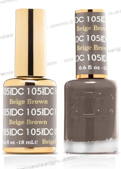 DND DC Duo Gel Polish – Beige Brown