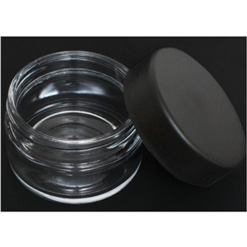 Glass Jar Black Cap 2.66oz