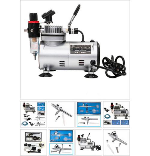 MINI 3 Airbrush & Compressor Kit 110V
