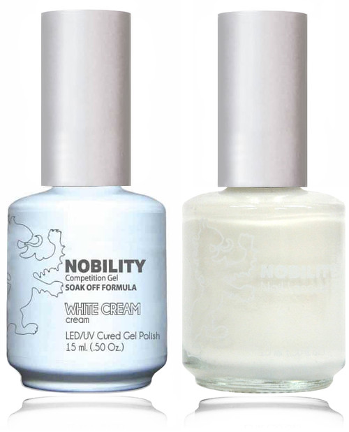 LECHAT NOBILITY - Gel Polish & Nail Lacquer Set - White Cream