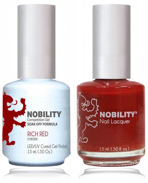 LECHAT NOBILITY Gel Polish & Nail Lacquer Set - Rich Red