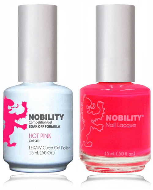 LECHAT NOBILITY Gel Polish & Nail Lacquer Set - Hot Pink