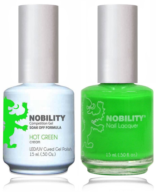 LECHAT NOBILITY Gel Polish & Nail Lacquer Set - Hot Green