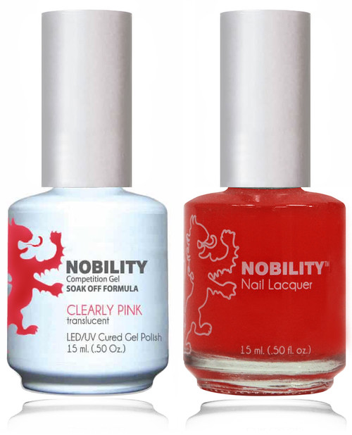 LECHAT NOBILITY Gel Polish & Nail Lacquer Set - Clearly Pink