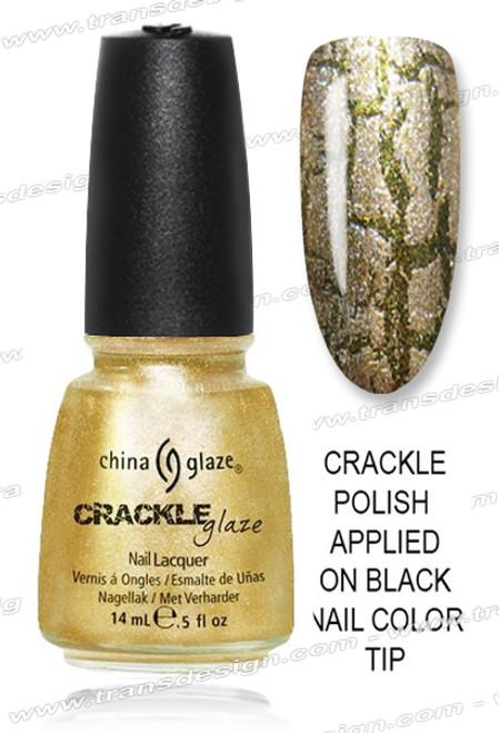 CHINA GLAZE CRACKLE - Tarnished Gold *