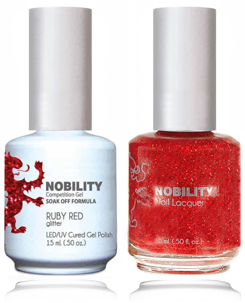 LECHAT NOBILITY Gel Polish & Nail Lacquer Set - Ruby Red
