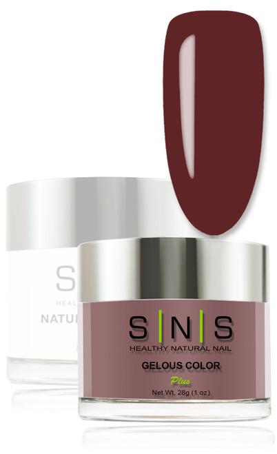 SNS Gelous Dip Powder - IS10 Red Red Wine