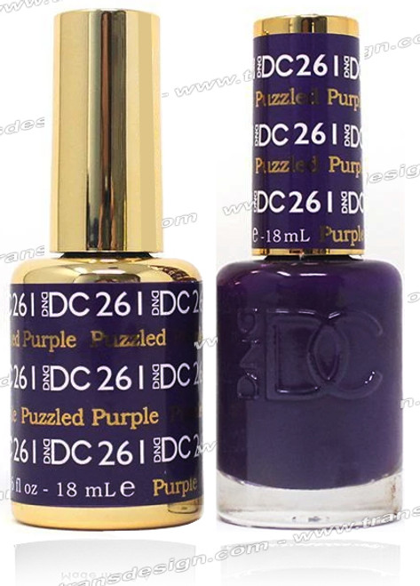 DND DC DUO GEL - Puzzled Purple