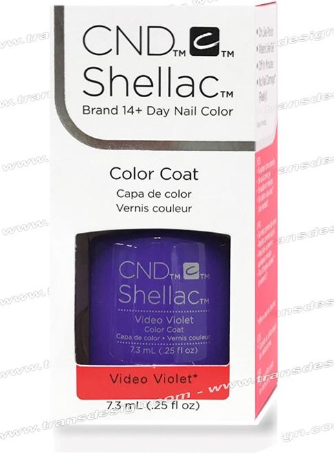 CND SHELLAC - Video Violet 0.25oz.