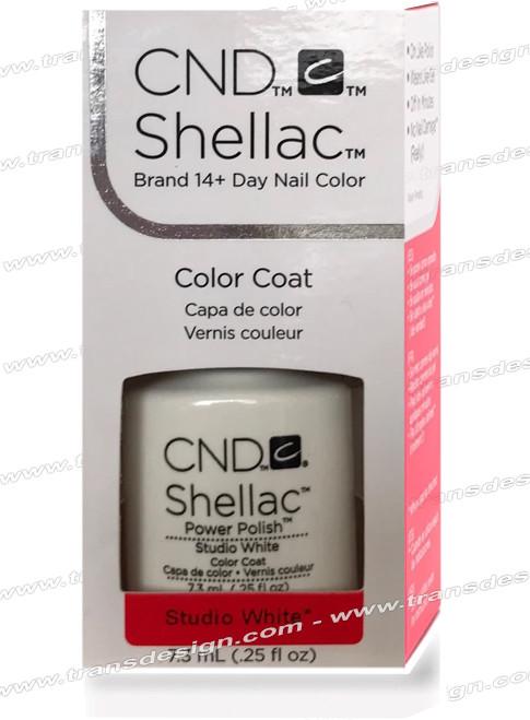 CND SHELLAC - Studio White 0.25oz.