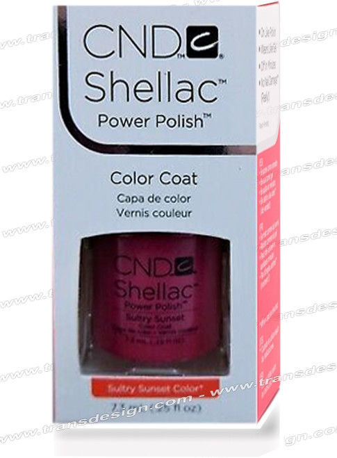 CND SHELLAC - Sultry Sunset 0.25oz.