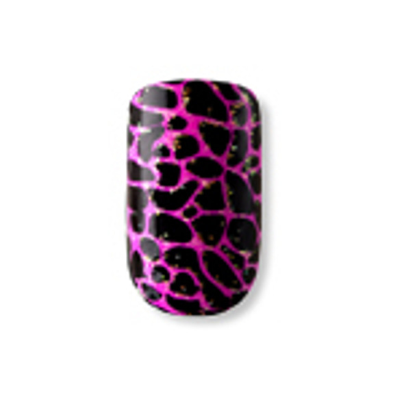 Dashing Diva - Metallic Crackle Nails Purrfectly Pink *