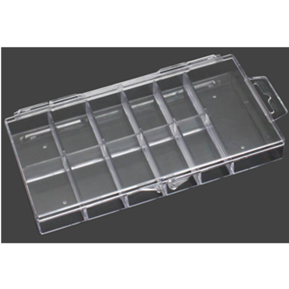 11-Slot Clear Hard Plastic Mini Tip Box 100/Box