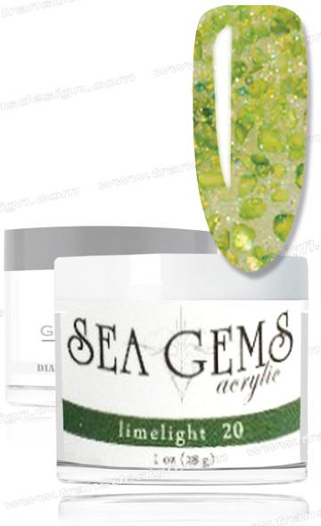 GLAM AND GLITS - Sea Gems Acrylic Limelight 1oz  *
