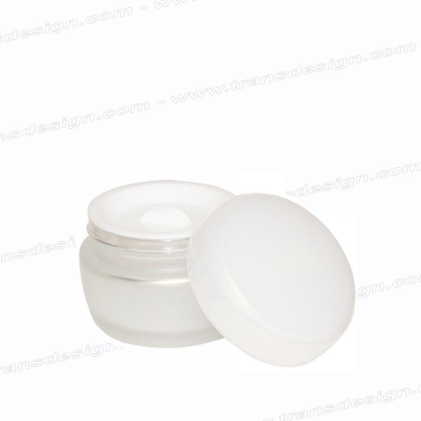 Frost Glass Jar With Pearl Cap 1oz