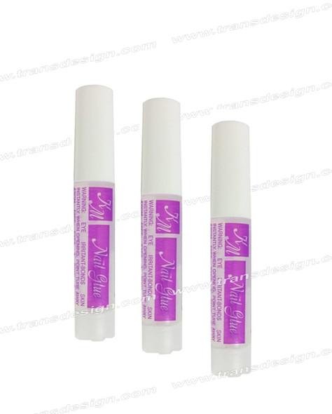 KM - Super Nail Glue 0.07oz 10/Bag