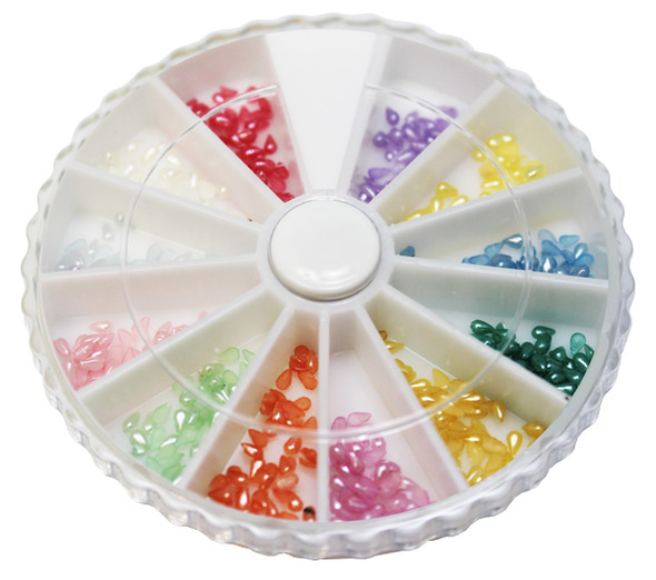 Nail Tear Drop Pearl 12 colors/Box