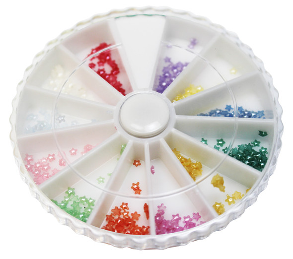 Nail Hexagon Pearl 12 colors/Box