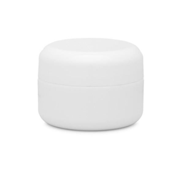 Double Wall Round Edge Plastic Jar 0.5oz.