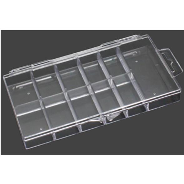 TIP BOX 11-Slot Clear Hard Plastic Mini