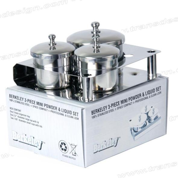 BERKELEY 3-Piece Stainless Steel Powder & Liquid Set