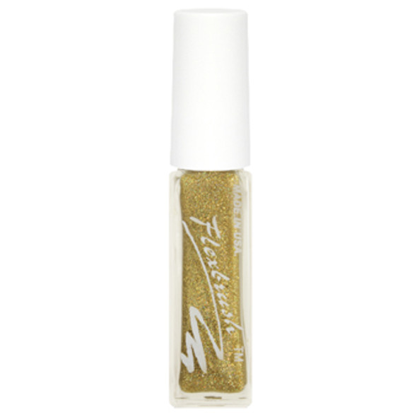 Flexbrush Lacquer Base - Gold Hologram Glitter 1/3oz