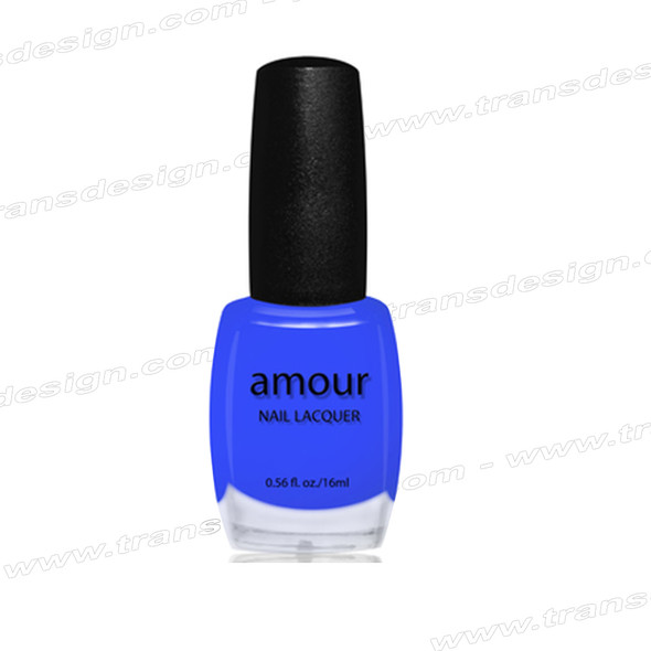 AMOUR- Blue Dolphins Top Coat 0.56oz.