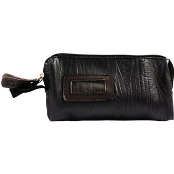 Black Leather Look Purse