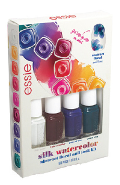 Essie - Silk Watercolor-Abstract Floral Mini Cube 4/Pack