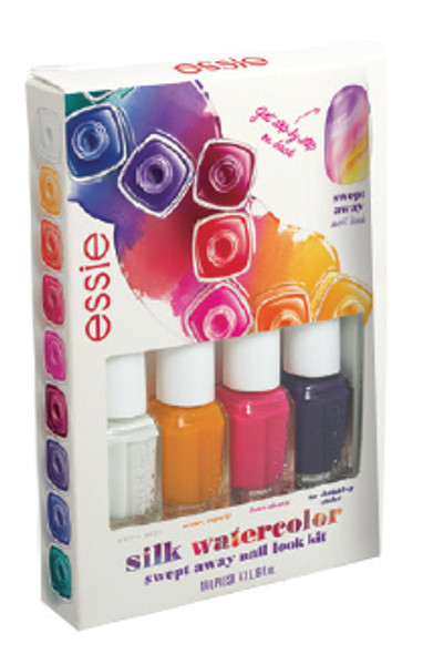 Essie - Silk Watercolor-Swept Away Mini Cube 4/Pack