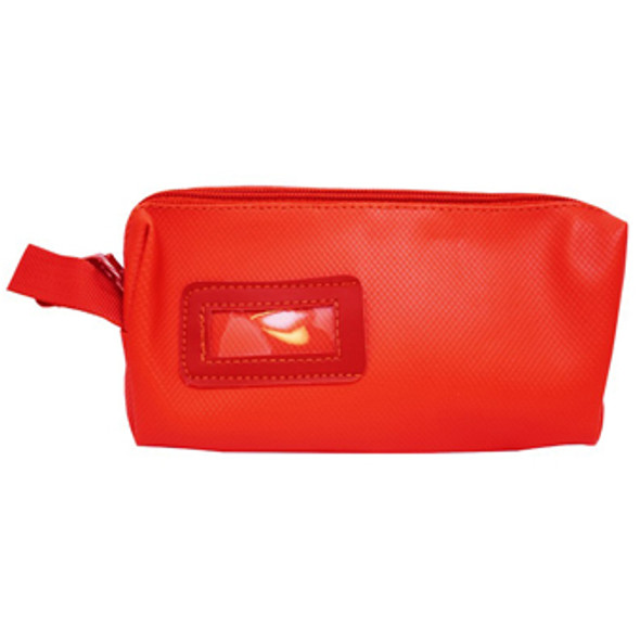 Red Leather Look Purse
