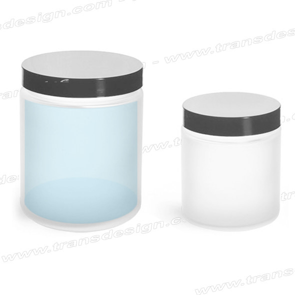 Empy Glass Jar - Frosted 4oz 24/Box