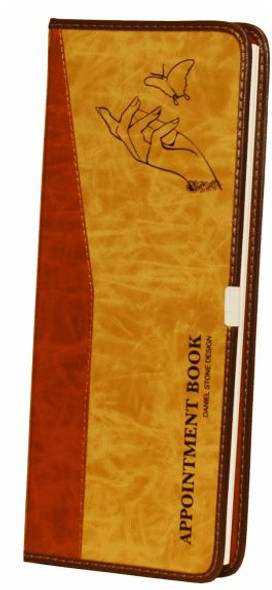 Appointment Book - 2 Columns Beige-Tan Color Cover