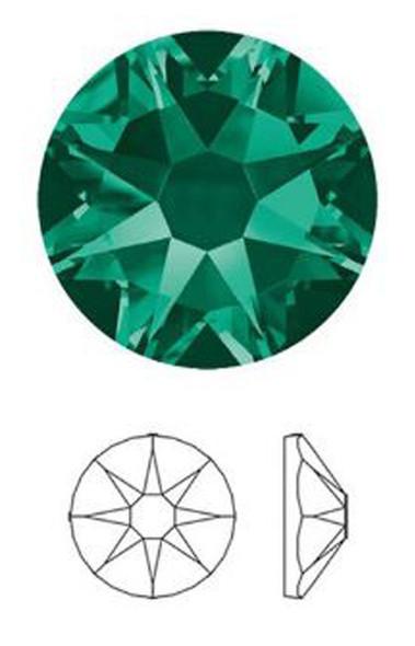 Quality Rhinestone #9 - Emerald 1440/Pack