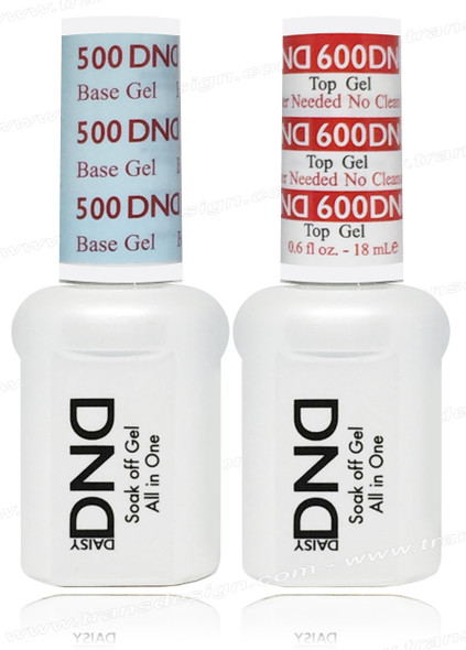 DND DUO - Base Gel DND 500  & Top Gel DND 600 | No Cleaner Needed