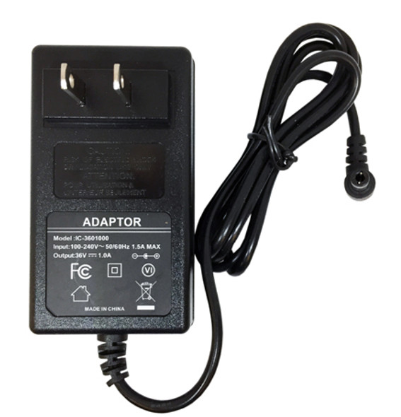 POWER ADAPTER 100-240V to 36 VDC. 1A.
