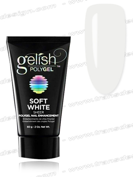 GELISH PolyGel - Soft White (Opaque) 2oz.