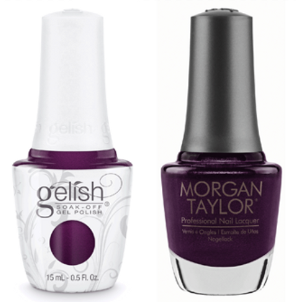 GELISH/MORGAN TAYLOR Two Of A Kind - Plum-Thing Magical 0.5oz. 2/Pack*