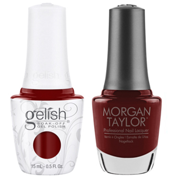 GELISH/MORGAN TAYLOR Two Of A Kind - Angling For A Kiss 0.5oz. 2/Pack*