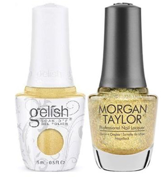 GELISH/MORGAN TAYLOR Two Of A Kind - Ice Cold Gold 0.5oz. 2/Pack*