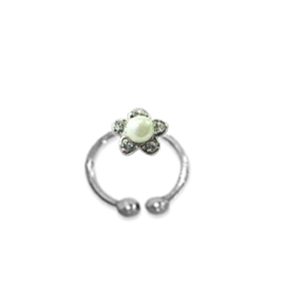 Adjustable Toe Ring Pearl Green