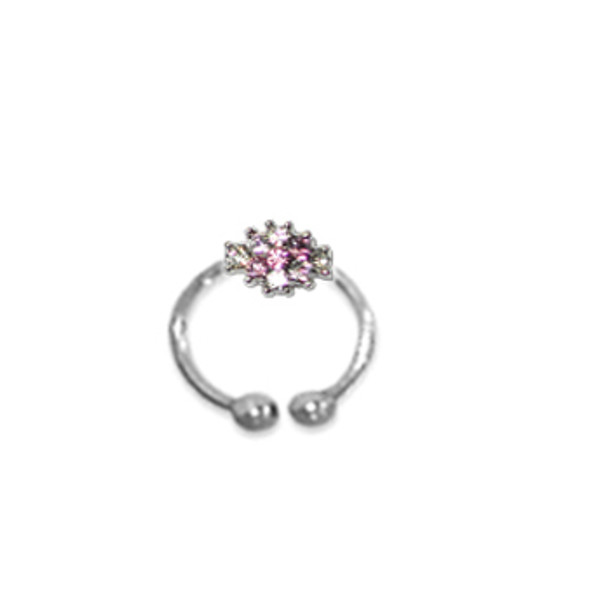 Adjustable Toe Ring Fuchia