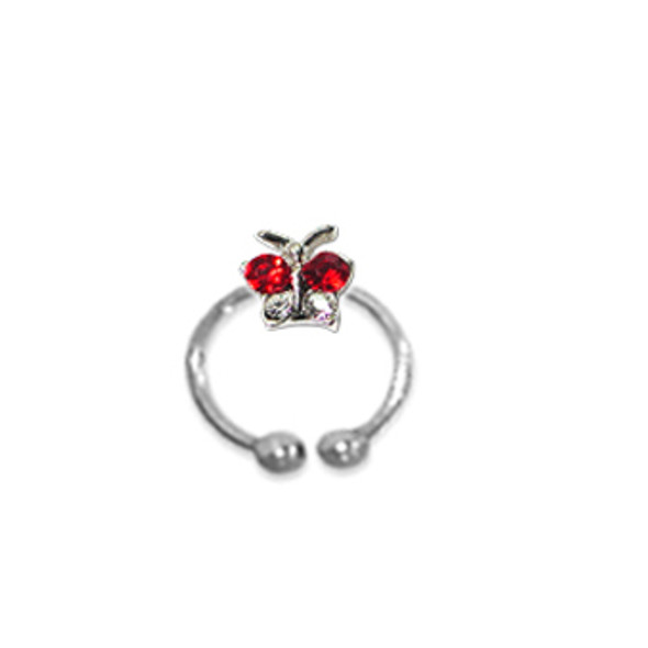 Adjustable Toe Ring (Red ButterFly)
