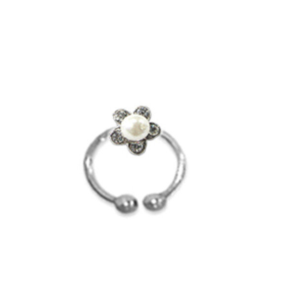 Adjustable Toe Ring Pearl White