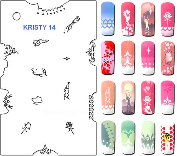 Stencil Kristy K14
