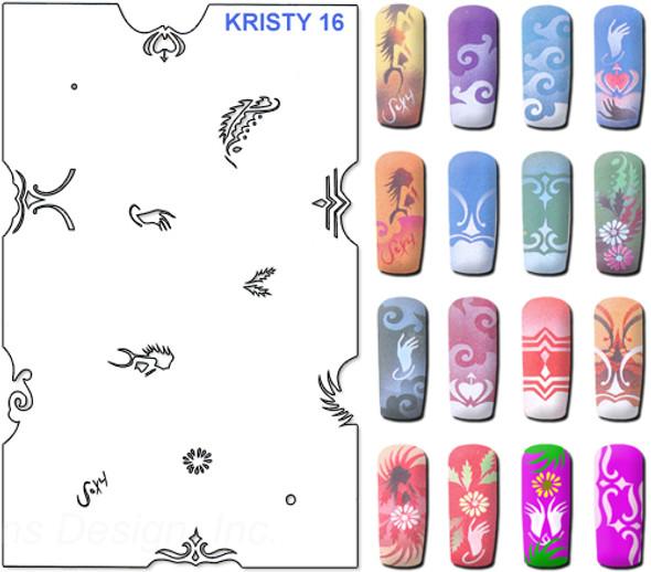 Stencil Kristy K16
