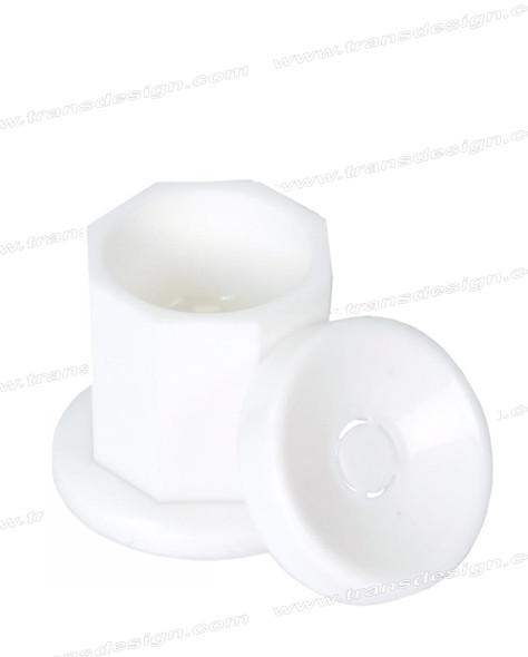 Plastic Dappen Dish White # DL-C510