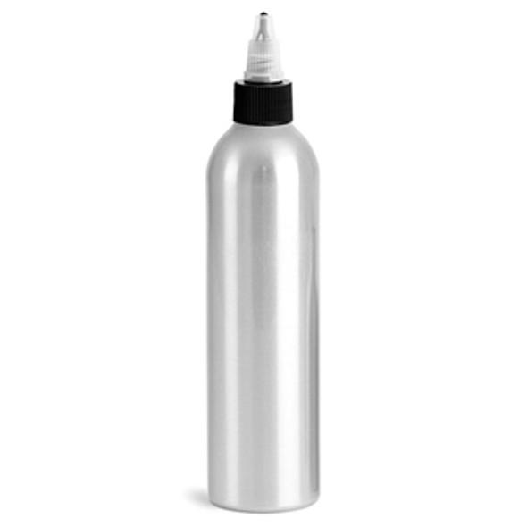 BOTTLE-Aluminum/Black Twist Top 8.5oz.